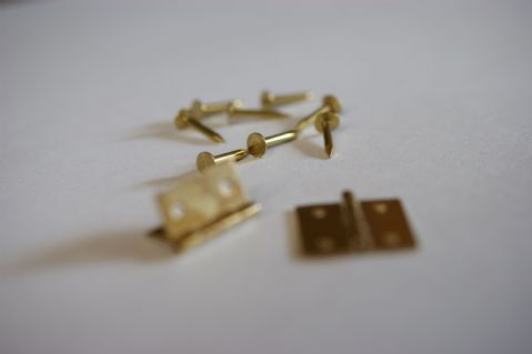 "1/2"" x 1/2"" Brass Butt Hinges (including Pins)"